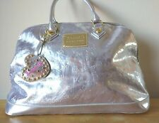 Betseyville by Betsey Johnson Ladies Purse/Travel Bag Dom Satchel Silver