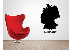 HUGE MAP OF GERMANY wall art sticker vinyl LOUNGE country deutschland