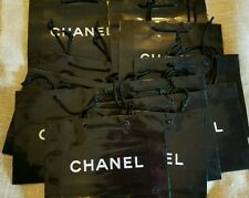 New CHANEL Black Paper Retail Shopping Gift Bag 10 bags