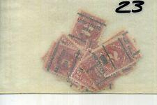 SCOTT J61 J62 .02 CITY CANCEL STAMP LOT OF 23
