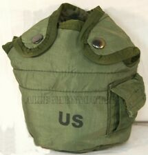 2 TWO 1 QUART OD CANTEEN COVERS, 1QT POUCH CARRIER & CLIPS US Military EXCELLENT