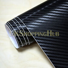 3D Black Carbon Fiber Vinyl Car Wrap Roll Bubble Free Sticker Film (1m x 1.5m)