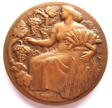 FRANCE / Agriculture / ART DECO BY HM PETIT/ 50 mm / Bronze Medal / N126