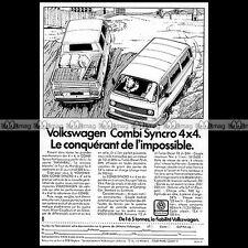 ★ VW COMBI TRANSPORTER SYNCRO 4X4 1987★ Pub AUTO Publicité Off-Road Advert #A132