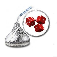 216 DICE BUNCO CASINO NIGHT HERSHEY'S KISS CANDY STICKER LABELS - Party Favors