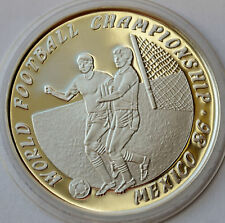 LAO 50 KIP 1988, FIFA Soccer World Cup in Mexico 1986. Silver Proof