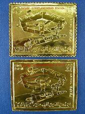 Raumfahrt Space 1970 Yemen Jemen Raumstation Gold 1190 A/B Perf + Imperf MNH/714