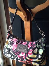 Coach Poppy Blossom Graphic Groovy 15590 Bag Purse Handbag RARE