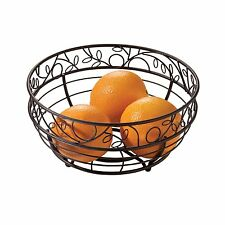 Countertop Fruit Vegetable Bowl Wire Basket Kitchen Storage Display Metal Bronze