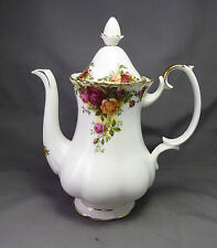 """Royal Albert Old Country Roses Coffee Pot 9.25"""" 1st Quality"""