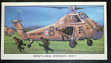 Westland Wessex  MK1     Royal Navy Helicopter  Royal Marines  Small Card
