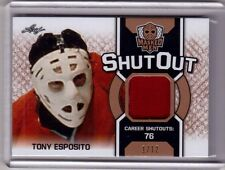 TONY ESPOSITO 16/17 Leaf Masked Men Shut Out Jersey #1/12 Rare SP Blackhawks