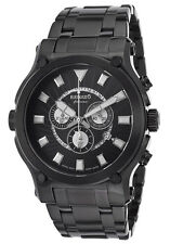 RENATO CALIBRE ROBUSTO 50 CHRONO BRUSHED BLACK IP STEEL SWISS MEN'S WATCH