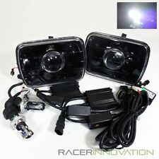 6000K White Hi-Low HID/7x6 H6054 Black Housing Semi Sealed Projector Headlights