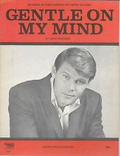 GLEN CAMPBELL 1967 Sheet Music GENTLE ON MY MIND Dean Martin Aretha Patti Page