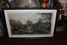 Antique Herring's Fox Hunting Scenes Engraving Print-The Death-#744-J. Harris