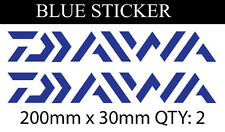 2 X  Daiwa Fishing Boat Reel Rod Sticker Vinyl Decal Set for dinghy tackle Box