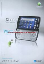 "Xperia Play ""Sony Ericsson"" 2011 Magazine Advert #4411"
