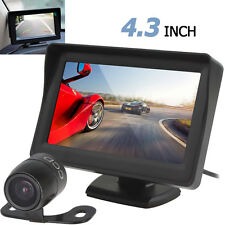 "4.3"" Digital TFT HD LCD Car Reverse Rearview Monitor Rear View Camera CCTV UK"