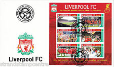 Liverpool (Treble) - Premiership Football Commemorative Stamp Sheet from Grenada