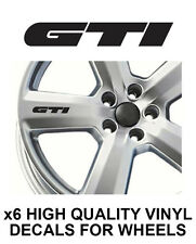 VOLKSWAGEN GTI ALLOY WHEEL STICKERS Graphics X6