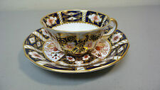 VINTAGE ROYAL CROWN DERBY PORCELAIN IMARI COFFEE CUP & SAUCER #2451, RED MARK
