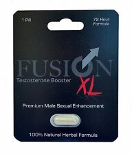 Fusion XL Herbal Testosterone Booster Male Enhancement Pill Erection - 6 Pills