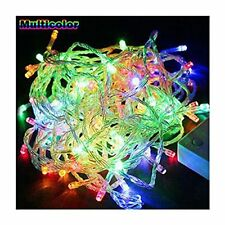 Multi Color 100 LED Twinkle Fairy Light String 8 Modes Tail Plug Christmas Tree