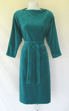 VINTAGE 1960s 70s MARSHALL ROUSSO LAS VEGAS DRESS TEAL POLY BELT