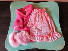Vintage Fisher Price My Friend Doll Clothes outfit Nightgown Slippers Robe Set