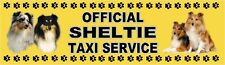 SHELTIE OFFICIAL TAXI SERVICE  Dog Car Sticker  By Starprint
