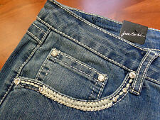 Woman's  Miss EARL JEANS Size 22W Bling Me Western Boot Cut  Sexy!