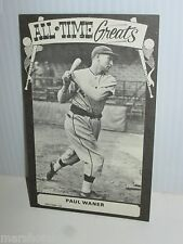 TCMA ALL-TIME GREATS 1973 VINTAGE PHOTO STYLE BASEBALL CARD PAUL WANER