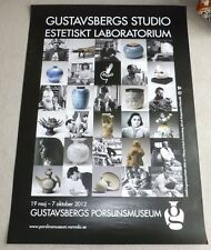 Gustavsberg Studio Pottery 2012 SWEDISH ART EXHIBITION POSTER Stig Lindberg etc