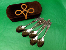 USSR, Soviet Latvia 1970s JURMALA Tea Spoons Set of 6, In Leather Case
