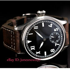 Parnis 44mm black dial luminous fashion hand winding 6498 movement men's watch