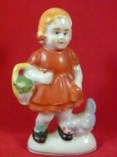 Porcelain Girl Figurine Made in Occupied Japan 3.5 inches Tall