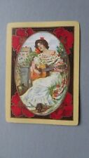 One Single Wide Swap/Playing Card - Vintage Lady Playing The Guitar