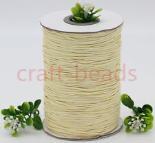 10Yards 1mm Cream Waxed Cotton Cord Various Colours Lengths Available