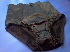 Women Panties,Briefs,Control Panties Ann Diane Size 4XL Black Satin W/2 Pockets