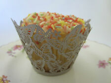 New 12x Butterfly Cupcake Wrappers Wedding Party Cup Cake Case Cut Decorations