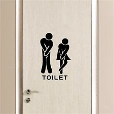 Funny Toliet Bathroom Wall Sticker  Decals washroom vinyl wall quotes home decor