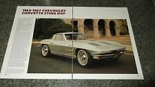★★1963-67 CHEVY CORVETTE STINGRAY INFO SPEC ARTICLE PHOTO STING RAY★★