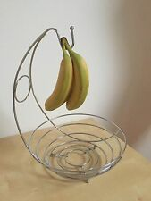 Large Stainless Steal Fruit Bowl With Banana Stand Hook