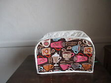 COFFEE,  2 SLICE APPLIANCE TOASTER COVER,   NEW