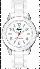 NEW AUTHENTIC LACOSTE White Silicone Strap Lady's WATCH 2000689 with BOX $160