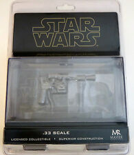 Star Wars ESB Han Solo Blaster Black Chrome .33 Scale Master Replicas SW-353