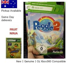 xbox 360 game : Peggle 2 Full Game Download Card with Fruit Ninja -pickup avail.