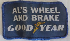 Good Year Tires Al's Wheel & Brake Embroidered Patch Applique Badge Logo repair