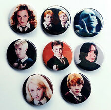 8 piece lot of Harry Potter Characters pins buttons badges